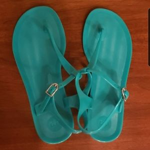 GAP jelly sandals bright teal